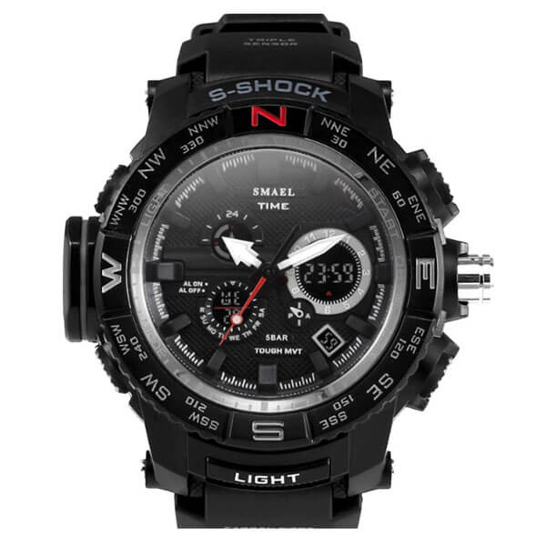 SMAEL 1531 Sports Watch Military Dual Display - Black