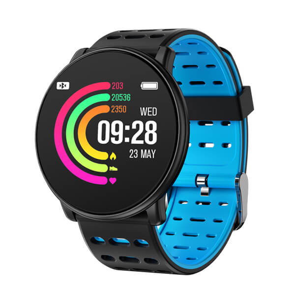 Smartwatch Bakeey Q88 Blood Oxygen Pressure Heart Rate Monitor - Black Blue
