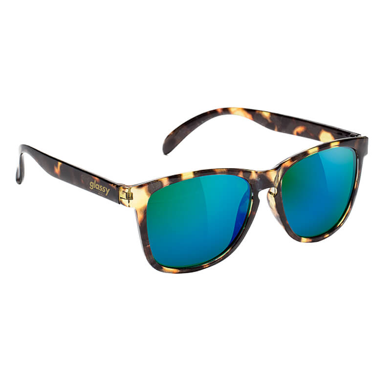 Glassy Sunhaters USA / Deric Tortoise/Green mirror image