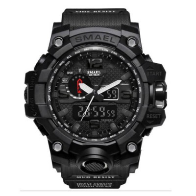 SMAEL 1545 Sports Watch Dual Display - Black
