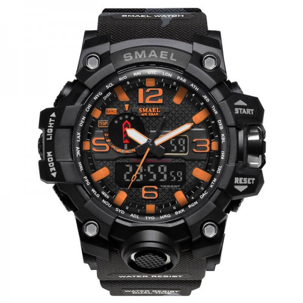 SMAEL 1545MC Sports Watch Dual Display - Black Orange