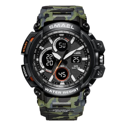 SMAEL 1708MC Sports Watch Military Dual Display - Army Green
