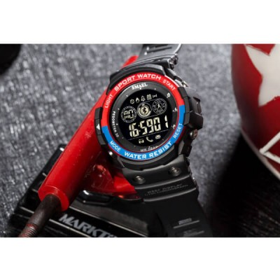 SMAEL 1602LY Smartwatch Bluetooth - Black Red image
