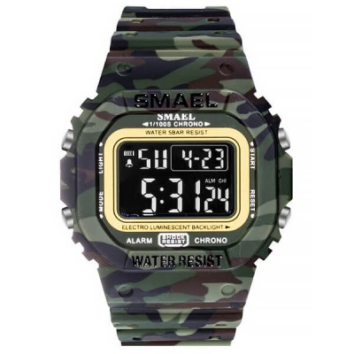 SMAEL 1801 Sports Watch Military Dual Display - Army Green