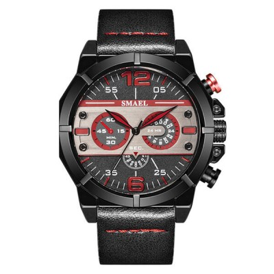 SMAEL 9074 Sports Watch Military Dual Display - Black