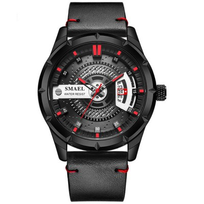 SMAEL 9011 Sports Watch Military Dual Display - Black Red