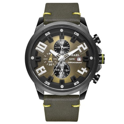 SMAEL 9080 Sports Watch Military Dual Display - Army Green