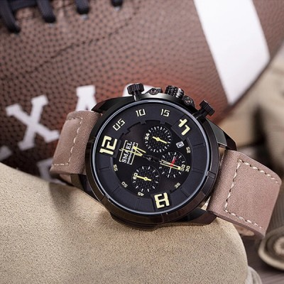 SMAEL 9075 Sports Watch Military Dual Display - Camel