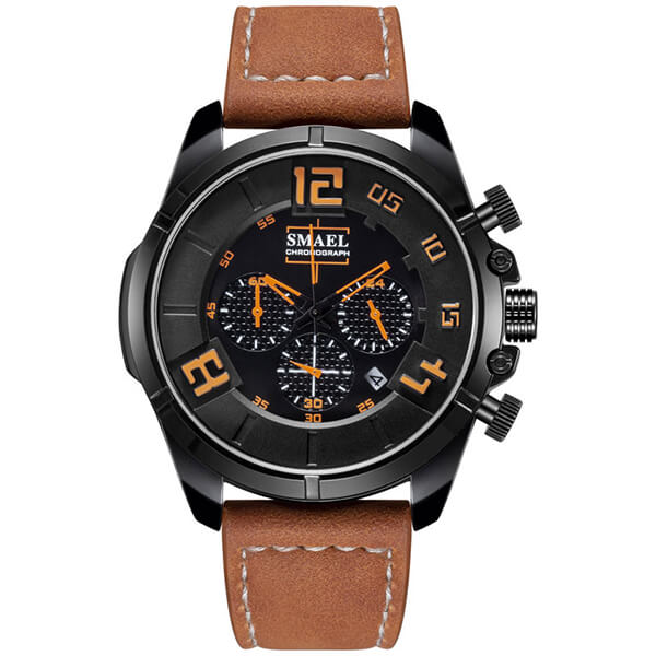 SMAEL 9075 Sports Watch Military Dual Display - Brown