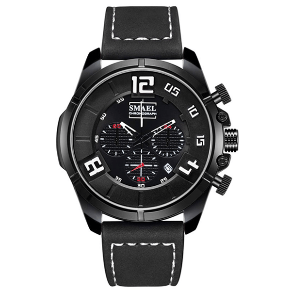 SMAEL 9075 Sports Watch Military Dual Display - Black