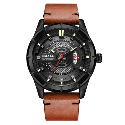 SMAEL 9011 Sports Watch Military Dual Display - Brown