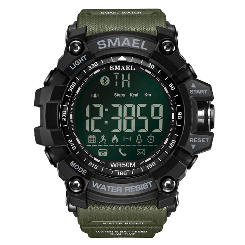 SMAEL 1617LY Smartwatch Bluetooth - Army Green