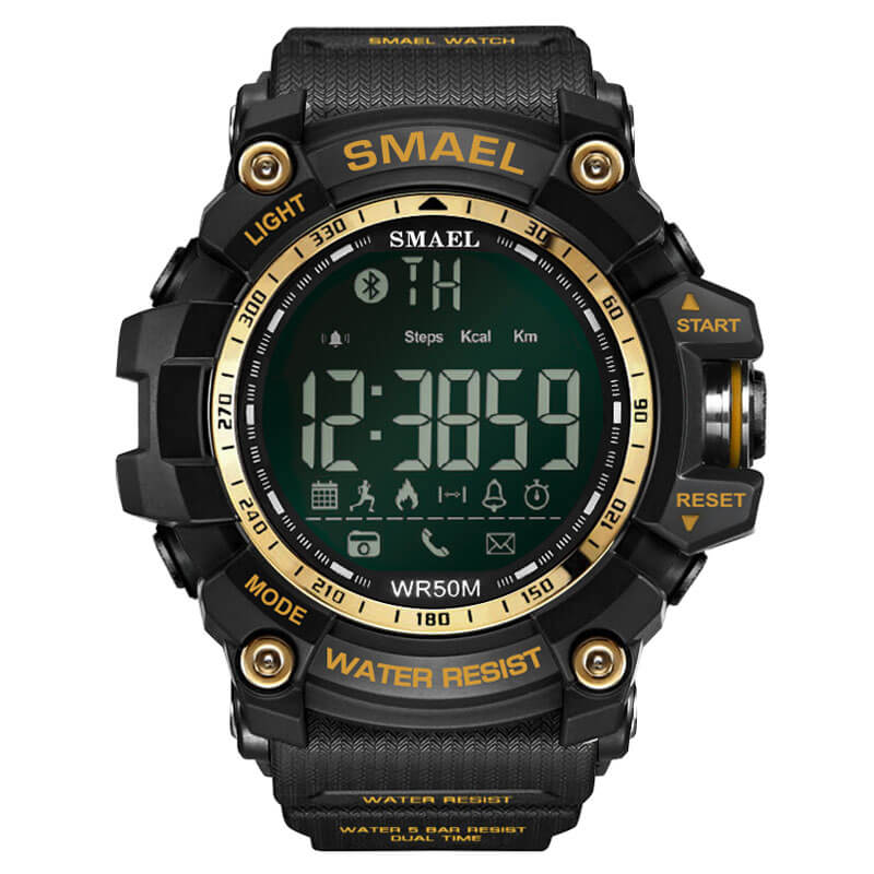 SMAEL 1617LY Smartwatch Bluetooth - Black Gold
