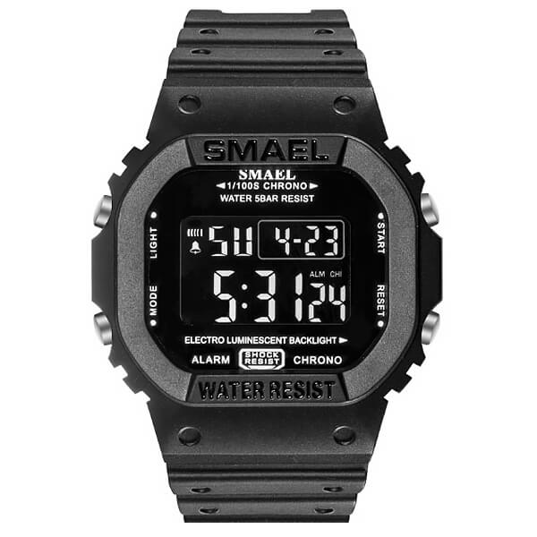 SMAEL 1801 Sports Watch Military Dual Display - Black